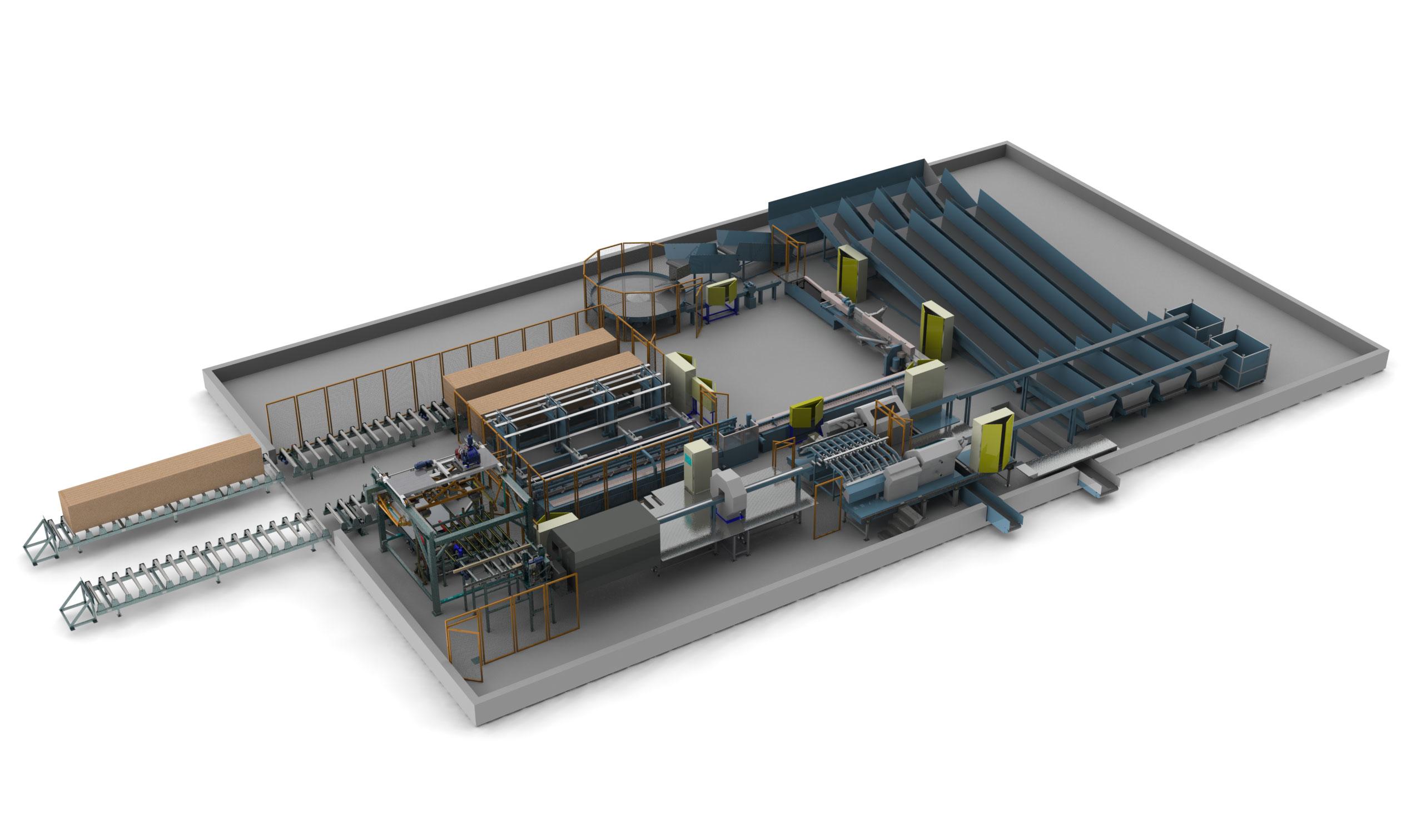 Automatisation usine de bois jointé